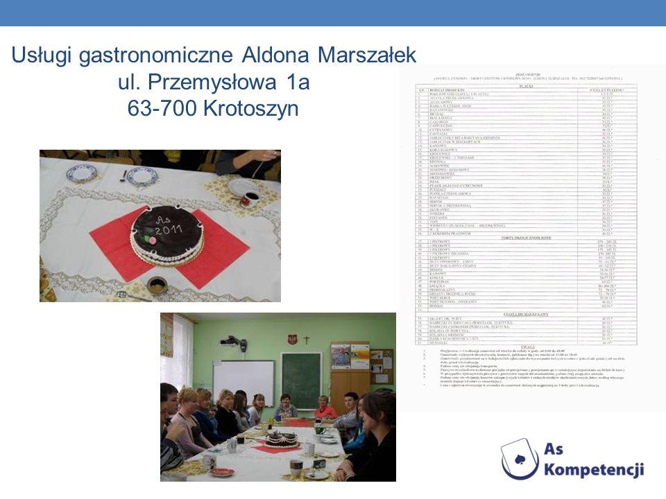 Usługi gastronomiczne Aldona Marszałek ul. Przemysłowa 1a 63-700 Krotoszyn
