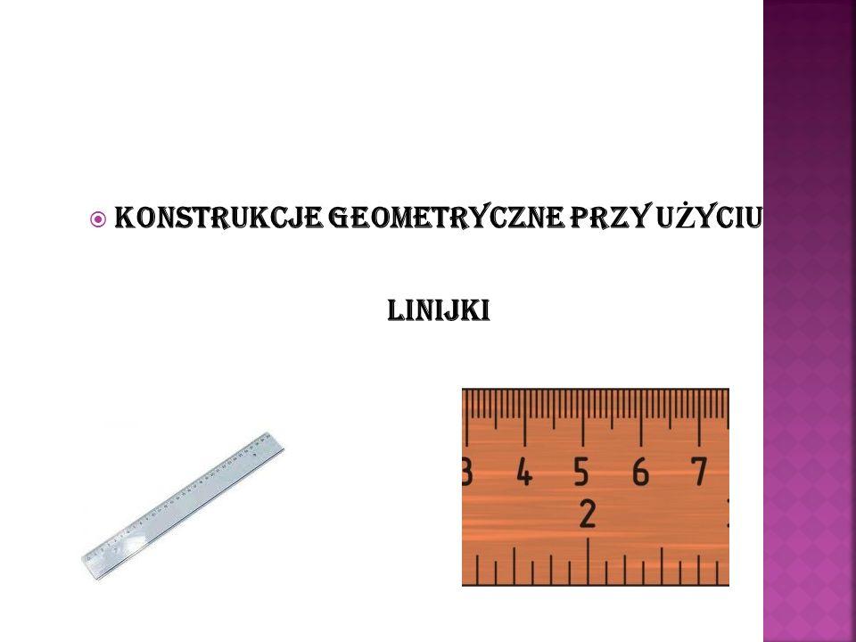 Narysuj dowolną prostą a i zaznacz na niej punkt A Narysuj okrąg o dowolnym promieniu, którego środkiem jest punkt A.
