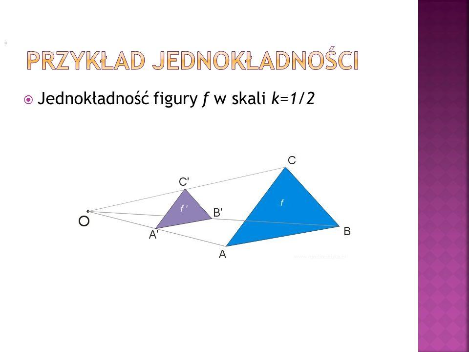 Jednokładność figury f w skali k=1/2.