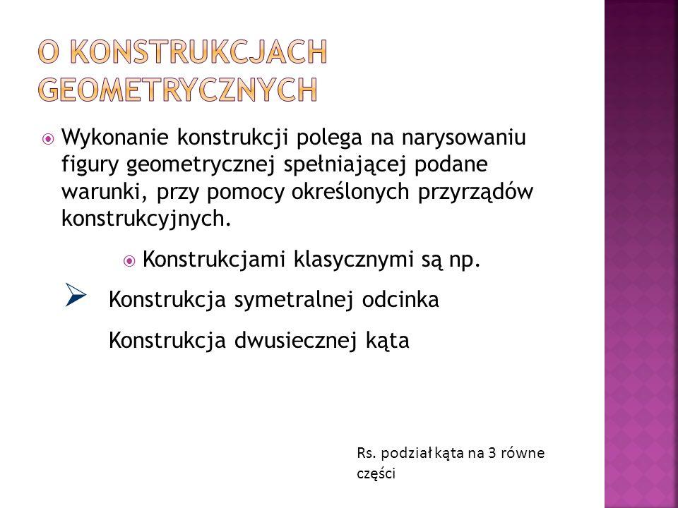 Już starożytni matematycy posługiwali się konstrukcjami geometrycznymi.