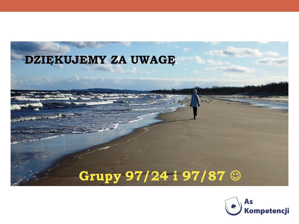 DZIĘKUJEMY ZA UWAGĘ Grupy 97/24 i 97/87