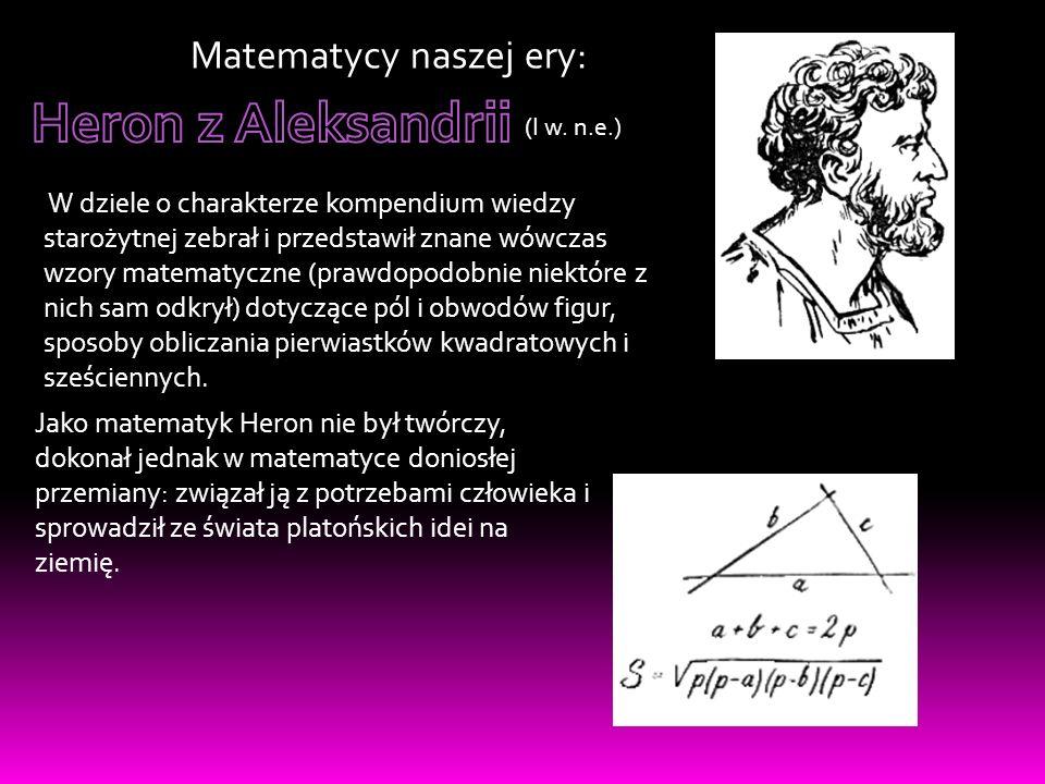 (2 połowa III w.n.e.) Był pierwszym uczonym, który zajął się głównie algebrą.