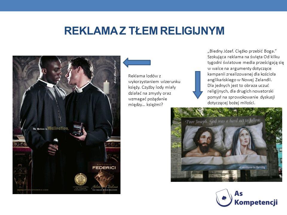 REKLAMA Z TŁEM RELIGIJNYM Reklama lodów z wykorzystaniem wizerunku księży. Czyżby lody miały działać na zmysły oraz wzmagać pożądanie między… księżmi?