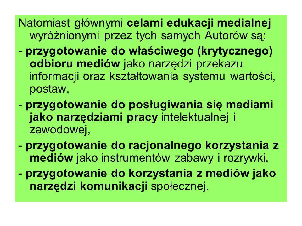 Kto współcześnie realizuje cele edukacji medialnej w Polsce?