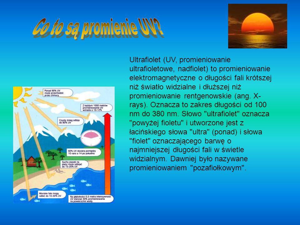 Ultrafiolet (UV, promieniowanie ultrafioletowe, nadfiolet) to promieniowanie elektromagnetyczne o długości fali krótszej niż światło widzialne i dłużs