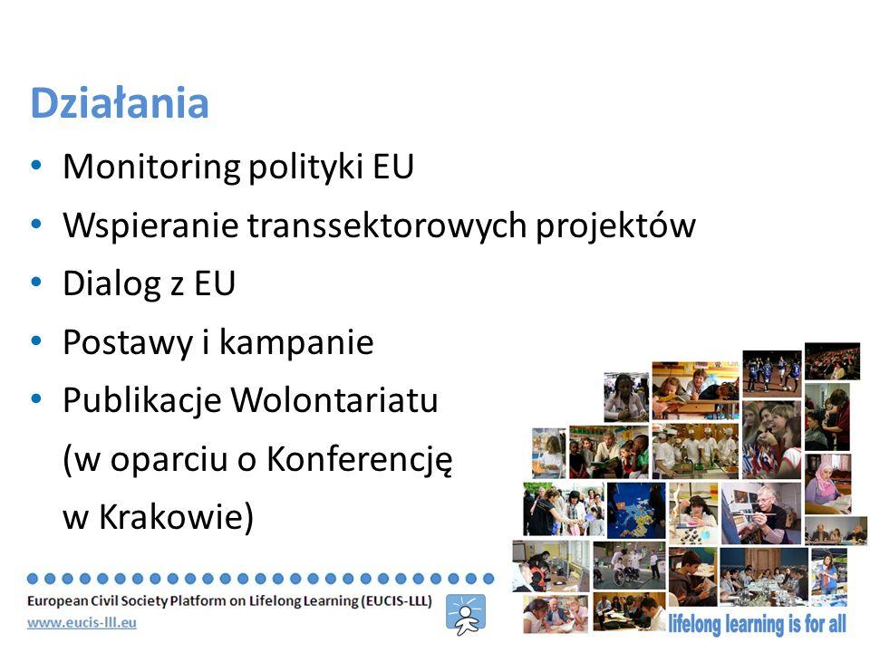 Wolontariat w Edukacji i Kształceniu Prawie wszystkie sektory kształcenia ustawicznego w pewnym stopniu pracują z wolontariuszami Odmienne tradycje wolontariatu w całej Europie Wolontariusz jako uczeń i kadra szkoleniowa