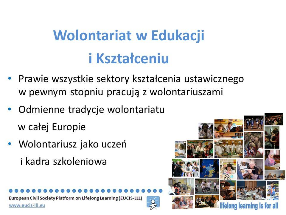 Wolontariat w Edukacji i Kształceniu– postulaty Europejskie regulacje prawne dotyczące wolontariuszy Wsparcie europejskiej mobilności wolontariuszy Angażowanie wolontariuszy i wolontariat w społeczeństwie obywatelskim