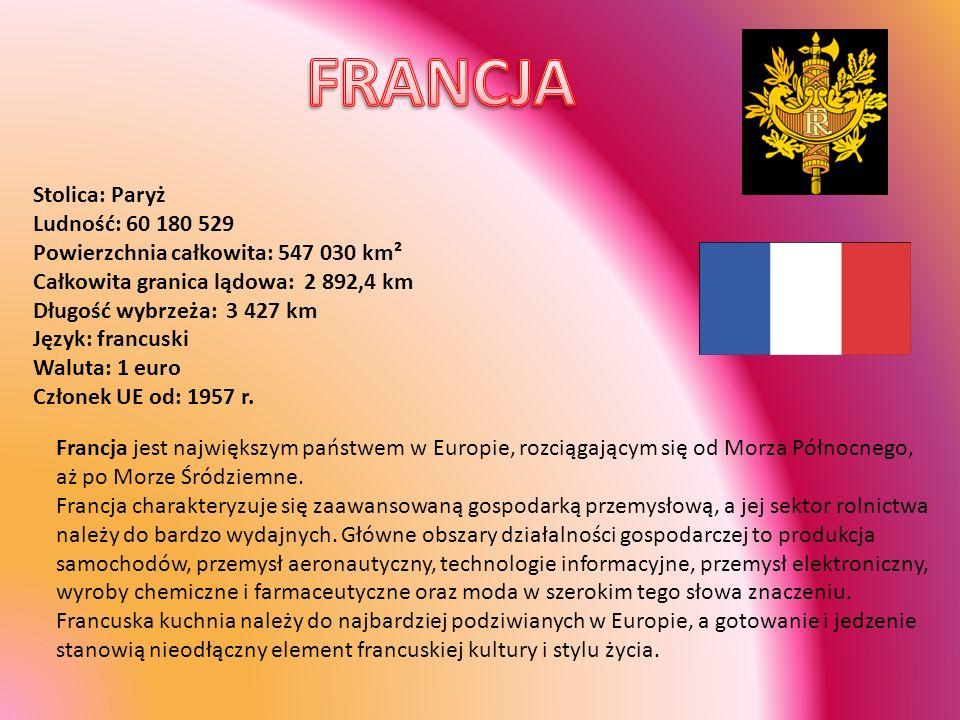 Stolica: Ateny Ludność: 10 662 138 Powierzchnia całkowita: 131 940 km² Powierzchnia lądowa: 130 800 km² Język: grecki (oficjalny), angielski, francuski Waluta: 1 euro Członek UE od: 1981 r.