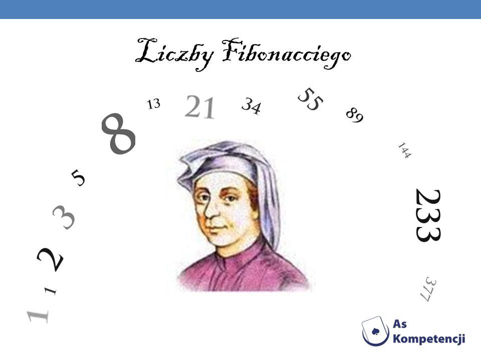 Weźmy pod uwagę ciąg liczbowy: w którym i dla dowolnego wskaźnika każdy wyraz jest równy sumie dwóch wyrazów poprzednich, to znaczy: Ciąg ten nazywamy ciągiem Fibonacciego, a jego kolejne wyrazy liczbami Fibonacciego.