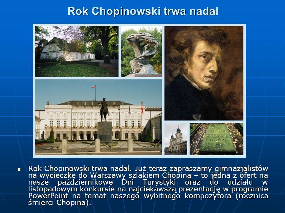 Rok Chopinowski trwa nadal Rok Chopinowski trwa nadal.