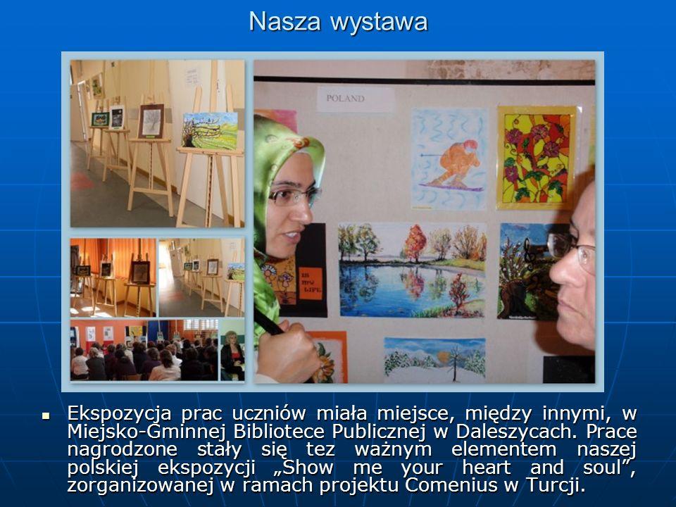 Nasza wystawa Ekspozycja prac uczniów miała miejsce, między innymi, w Miejsko-Gminnej Bibliotece Publicznej w Daleszycach.