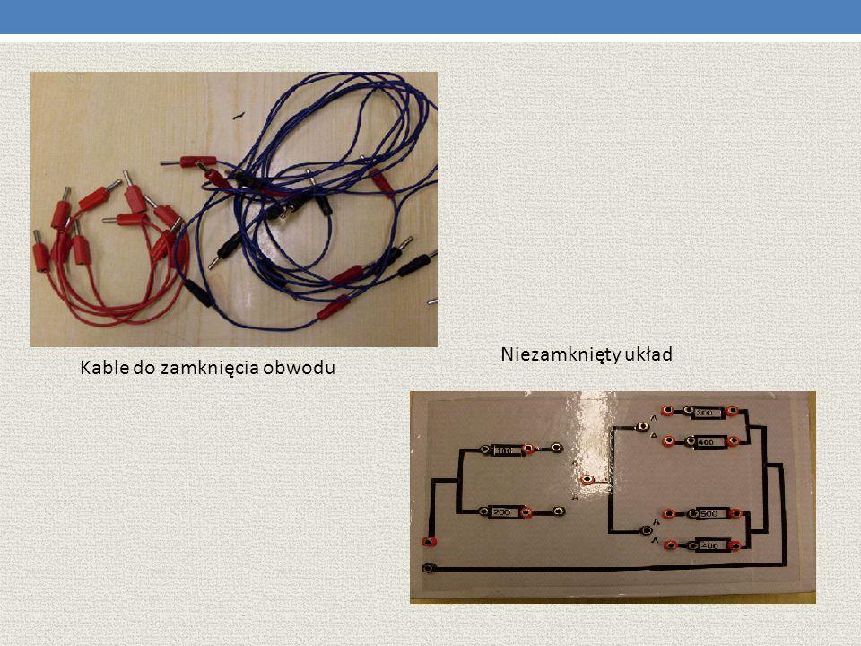 Kable do zamknięcia obwodu Niezamknięty układ