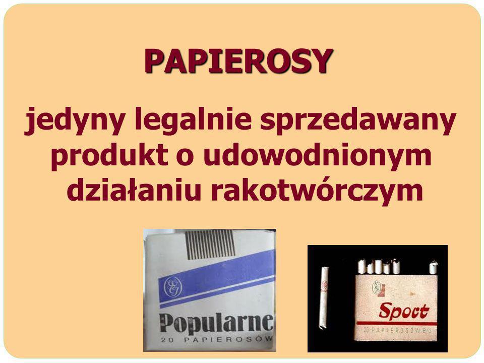 PAPIEROSY jedyny legalnie sprzedawany produkt o udowodnionym działaniu rakotwórczym