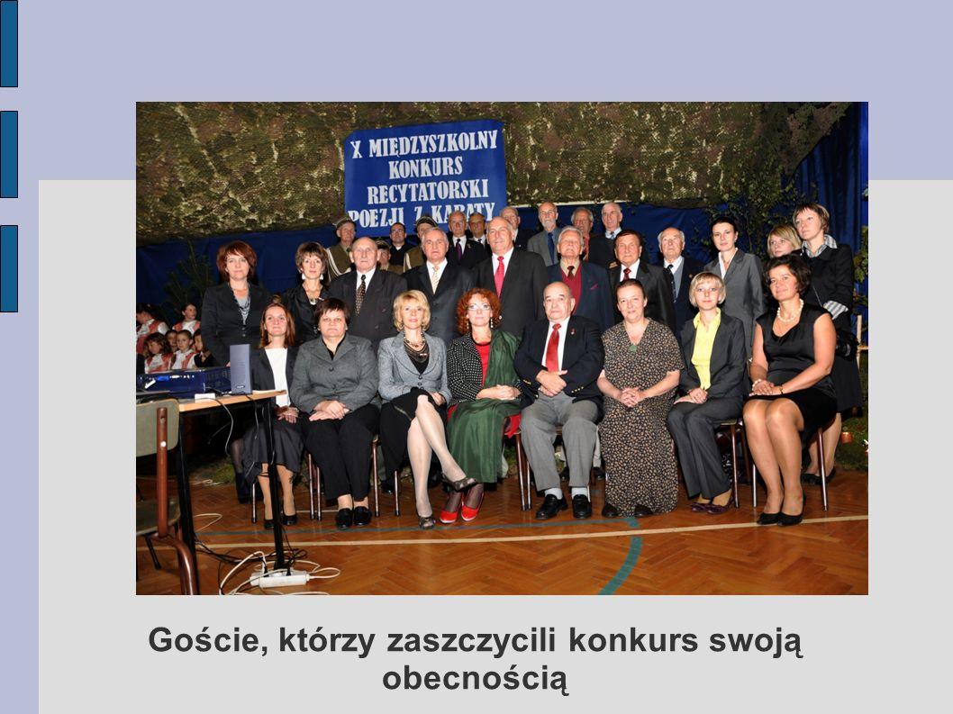 Goście, którzy zaszczycili konkurs swoją obecnością