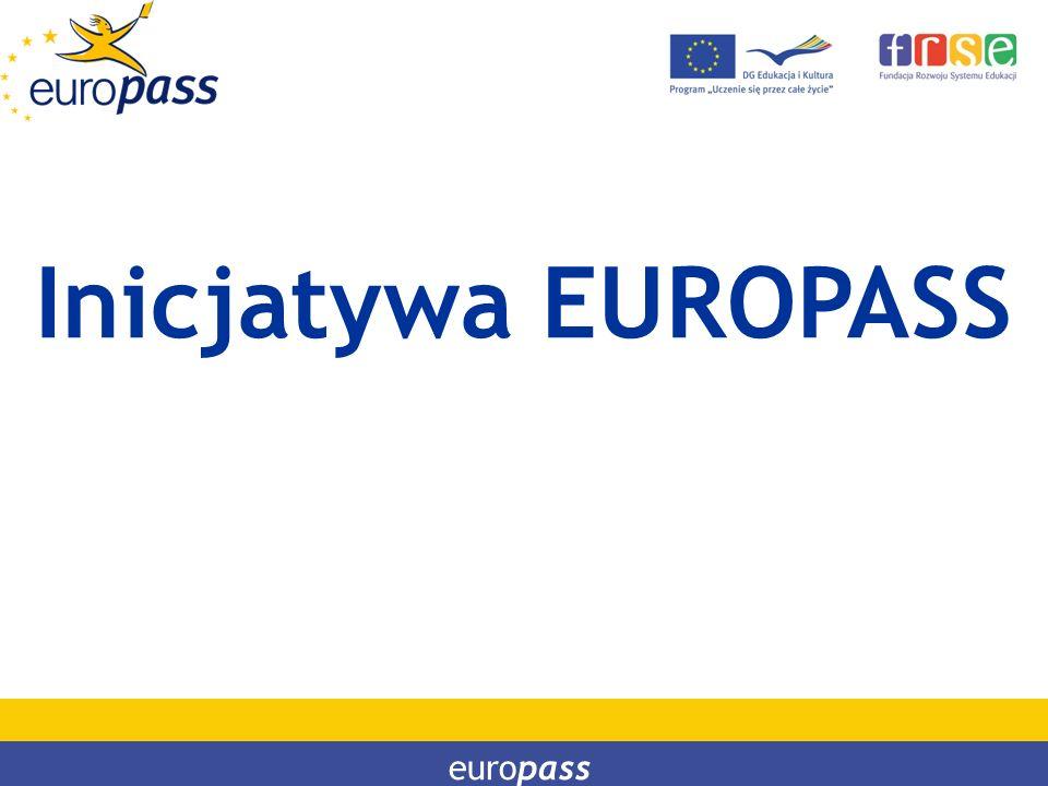 PROGRAM LEONARDO DA VINCI PROGRAM UCZENIE SIĘ PRZEZ CAŁE ŻYCIE Inicjatywa EUROPASS europass