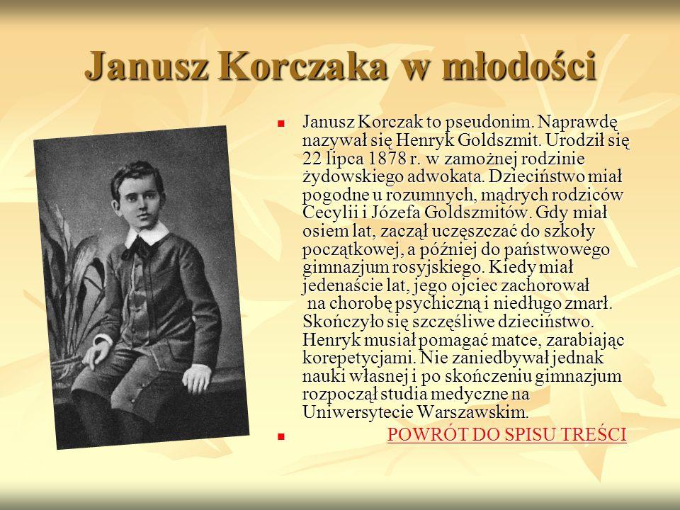 Janusz Korczaka w młodości Janusz Korczak to pseudonim.