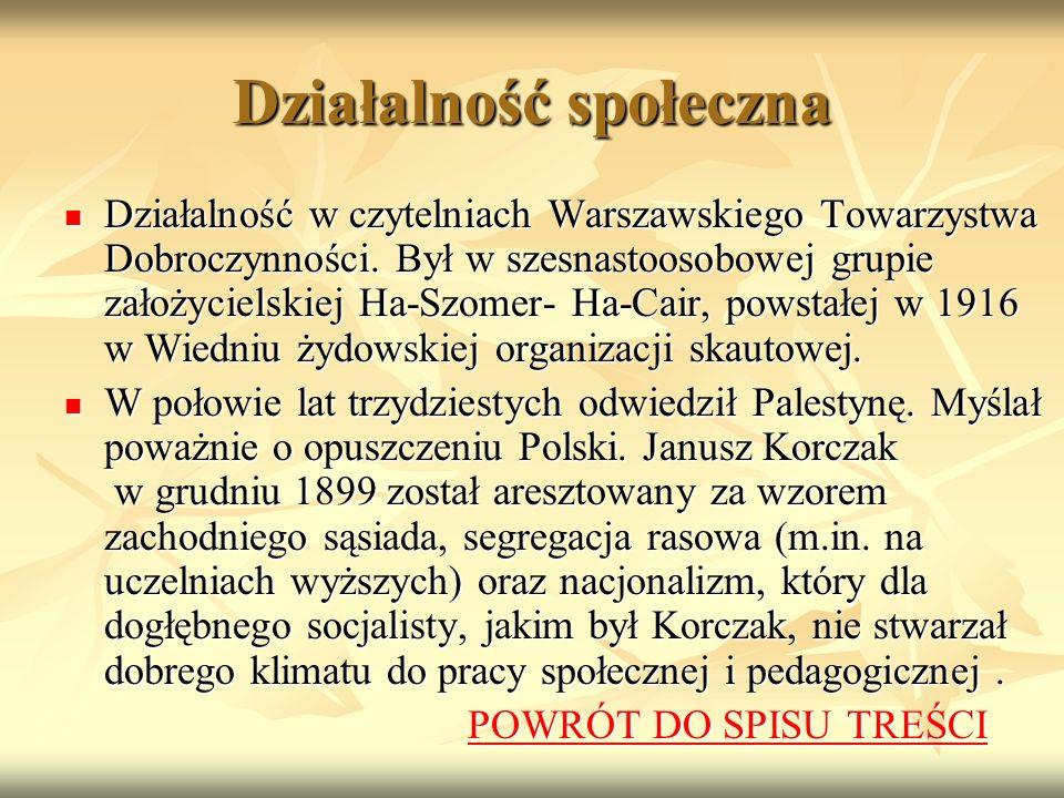 Działalność społeczna Działalność w czytelniach Warszawskiego Towarzystwa Dobroczynności.