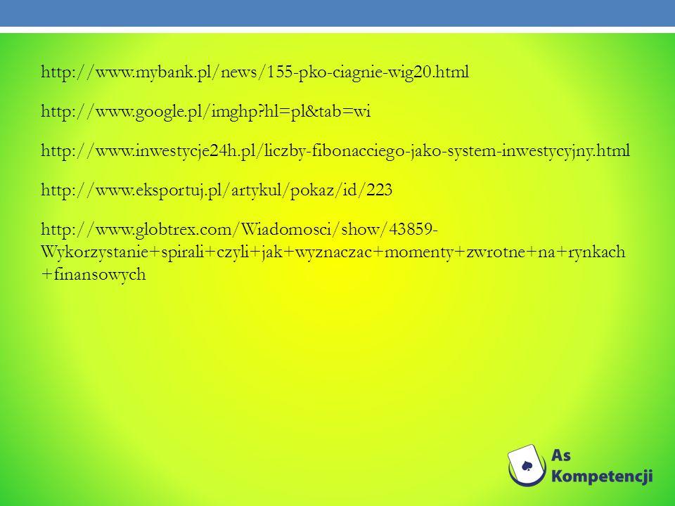 http://www.mybank.pl/news/155-pko-ciagnie-wig20.html http://www.google.pl/imghp?hl=pl&tab=wi http://www.inwestycje24h.pl/liczby-fibonacciego-jako-syst