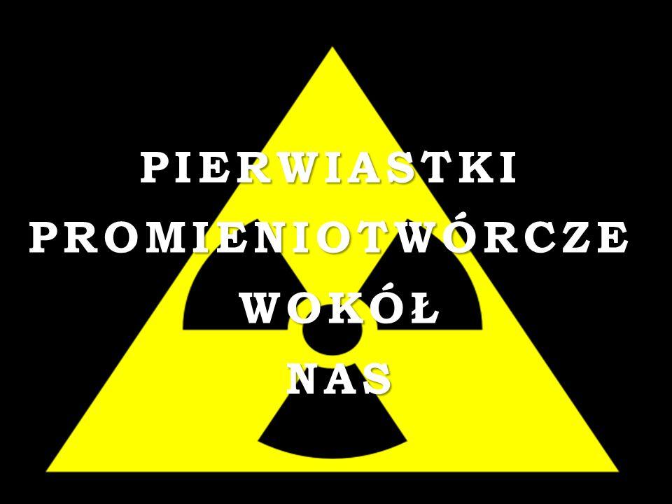 Promieniowanie przenika do środowiska wskutek działalności przemysłowej człowieka (wydobycie rud uranu, spalanie węgla zawierającego pierwiastki promieniotwórcze).