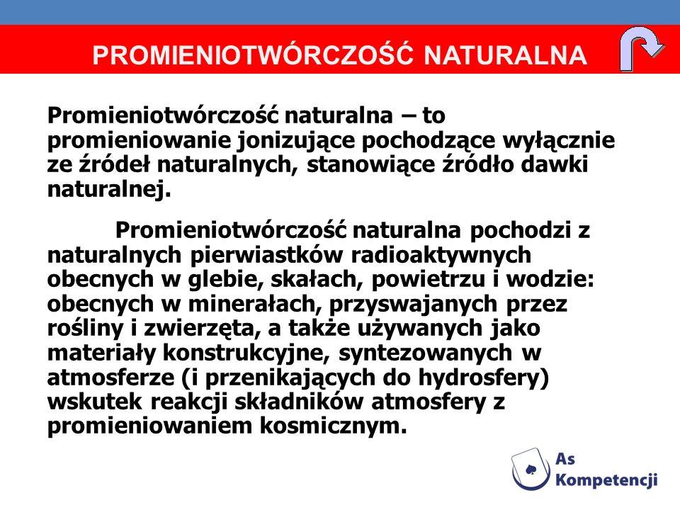 Promieniotwórczość naturalna – to promieniowanie jonizujące pochodzące wyłącznie ze źródeł naturalnych, stanowiące źródło dawki naturalnej. Promieniot
