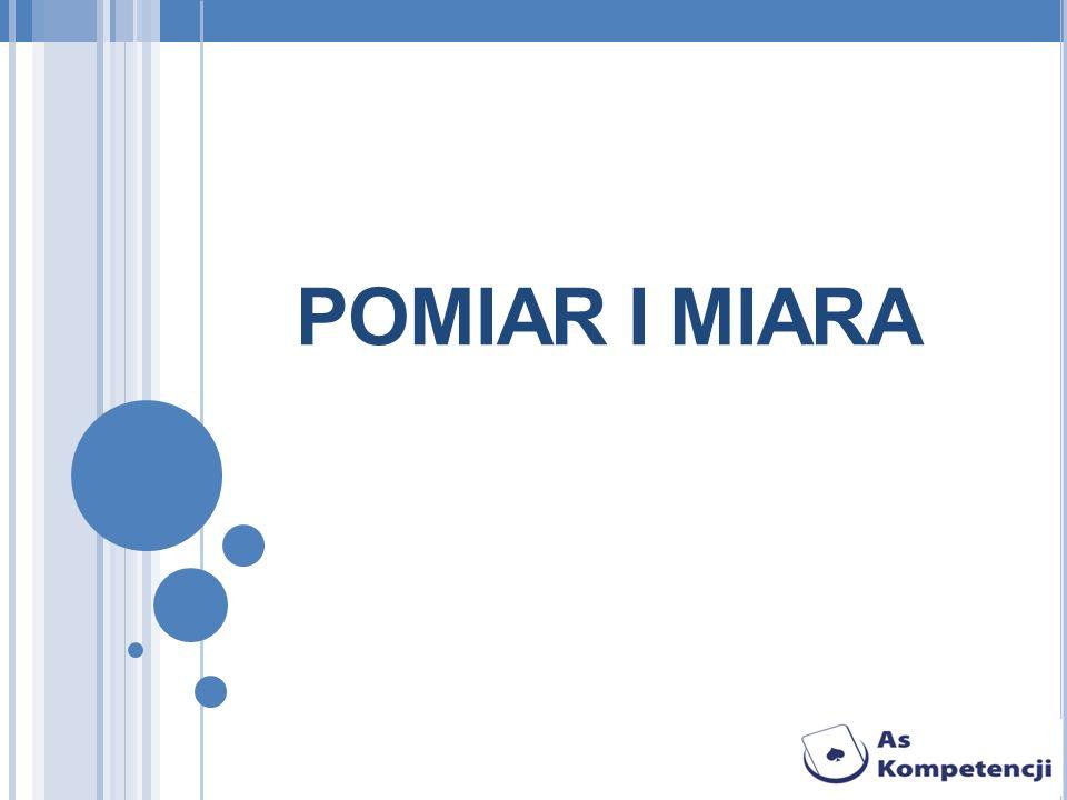POMIAR I MIARA