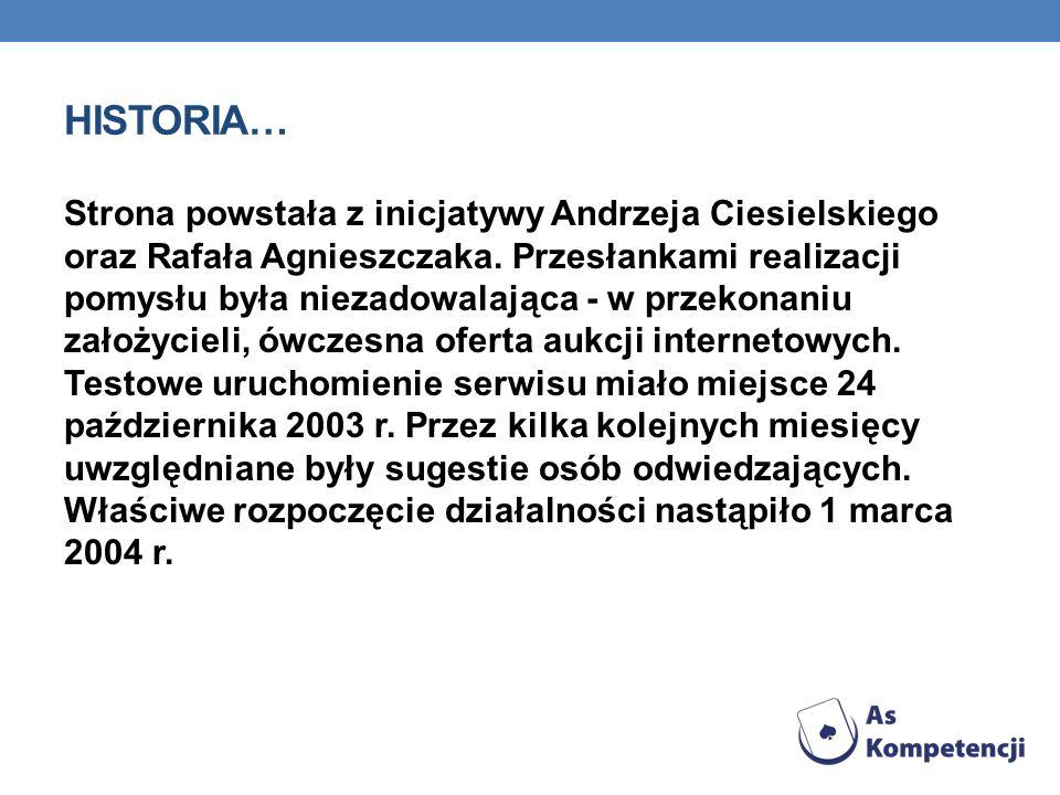 HISTORIA… Strona powstała z inicjatywy Andrzeja Ciesielskiego oraz Rafała Agnieszczaka. Przesłankami realizacji pomysłu była niezadowalająca - w przek