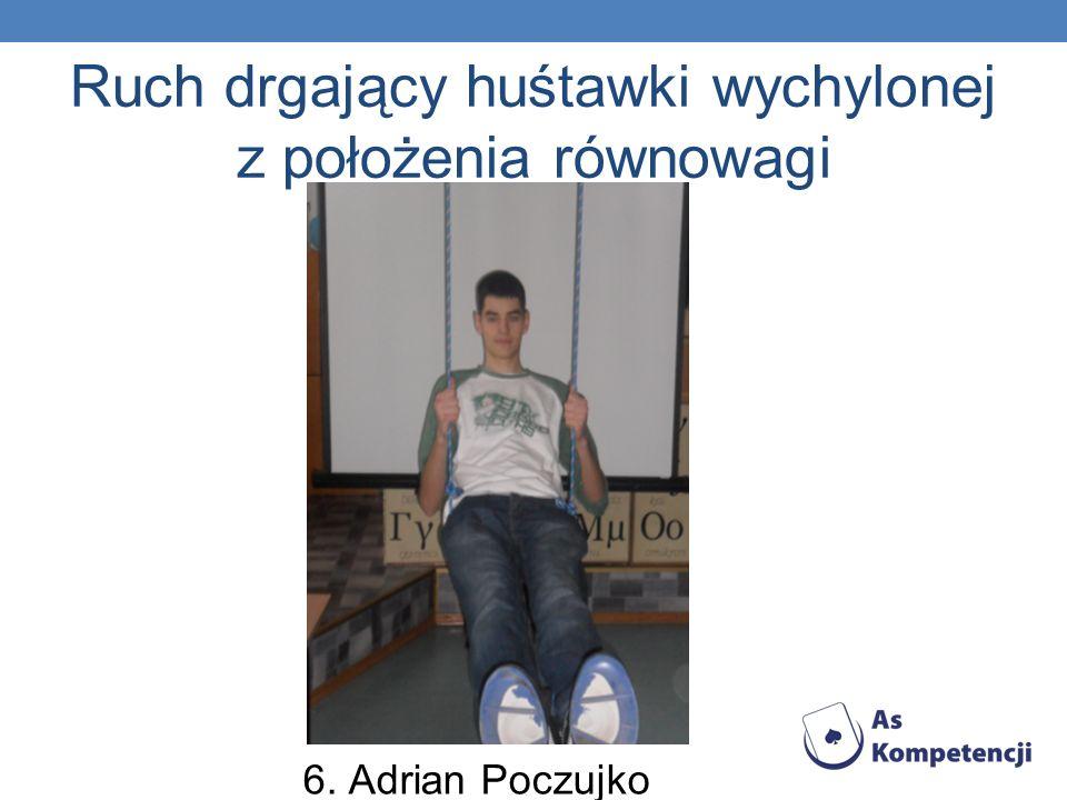 Ruch drgający huśtawki wychylonej z położenia równowagi 6. Adrian Poczujko