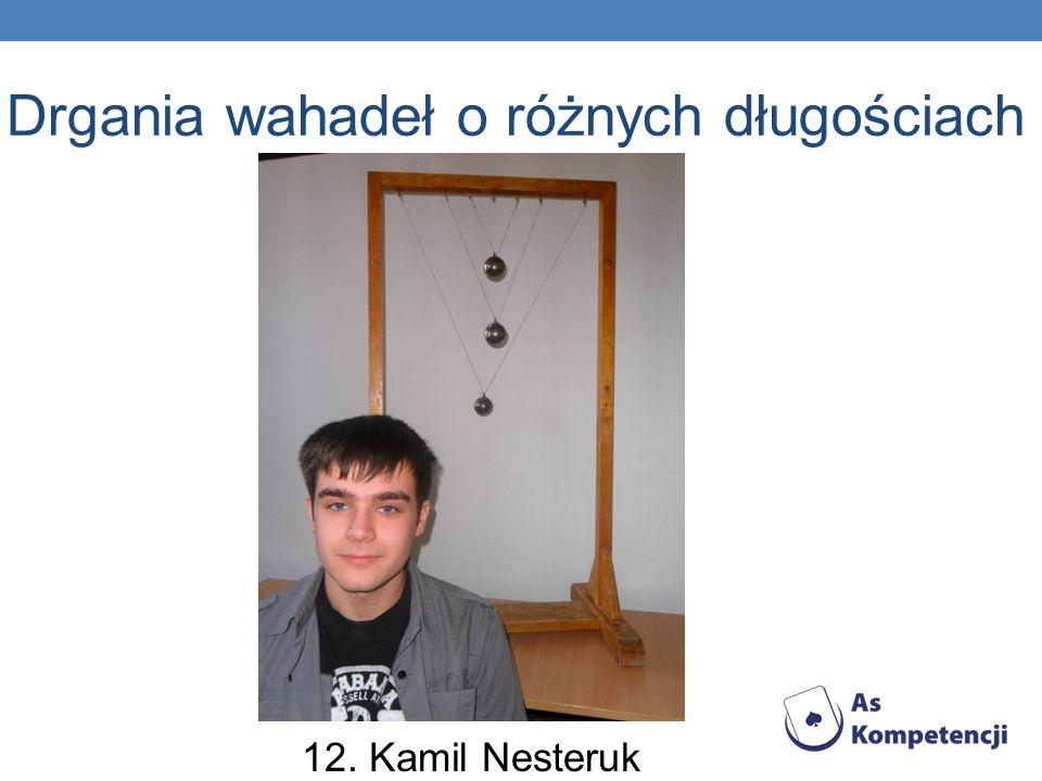 Drgania wahadeł o różnych długościach 12. Kamil Nesteruk