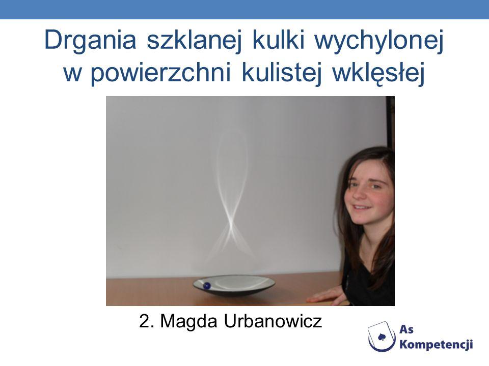 Drgania szklanej kulki wychylonej w powierzchni kulistej wklęsłej 2. Magda Urbanowicz