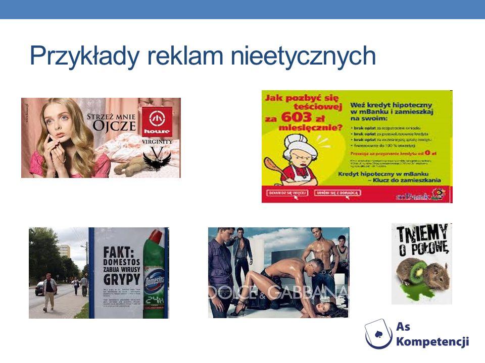 Przykłady reklam nieetycznych