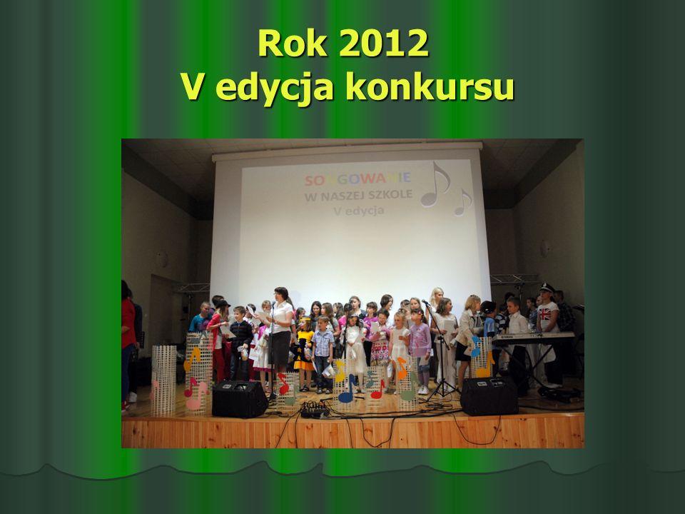 Rok 2012 V edycja konkursu