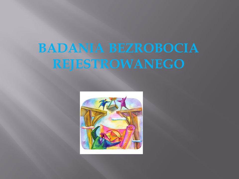 BADANIA BEZROBOCIA REJESTROWANEGO