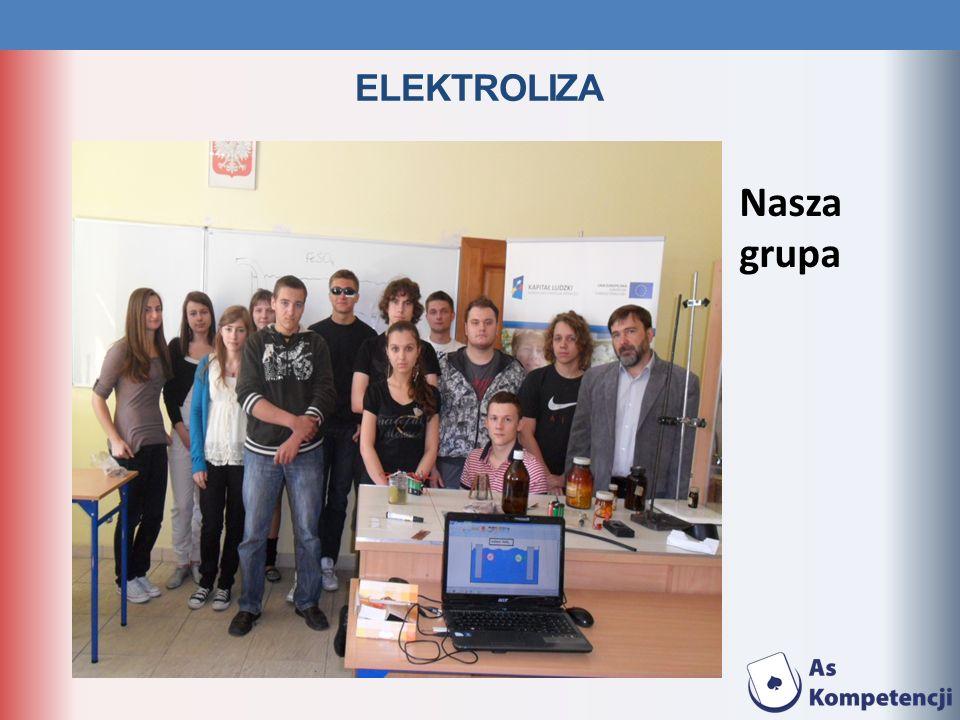 ELEKTROLIZA Nasza grupa