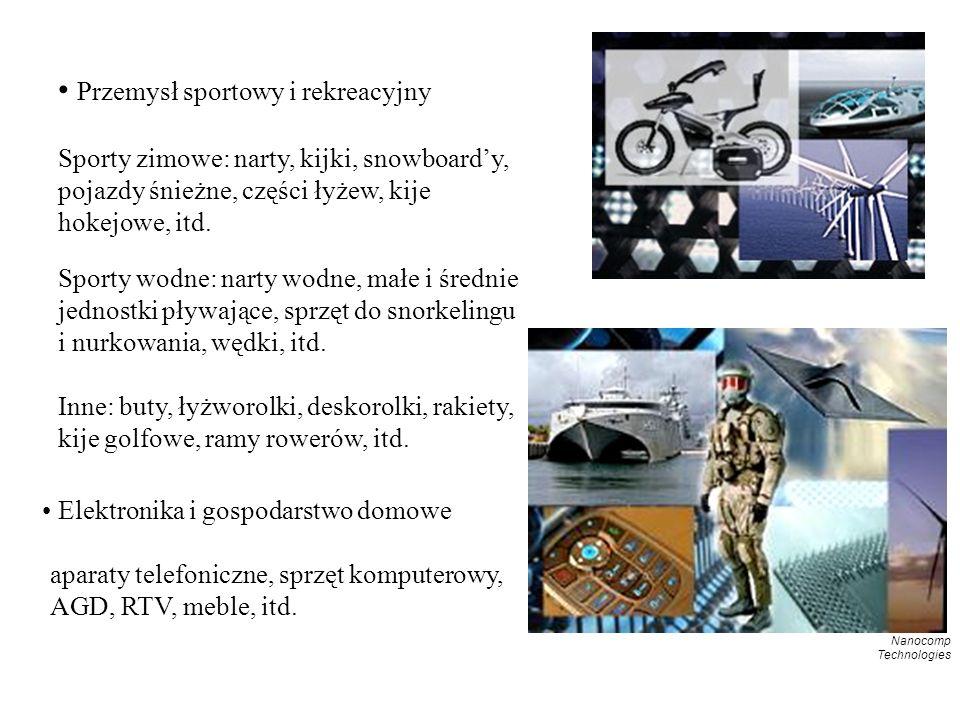 Przemysł sportowy i rekreacyjny Sporty zimowe: narty, kijki, snowboardy, pojazdy śnieżne, części łyżew, kije hokejowe, itd.