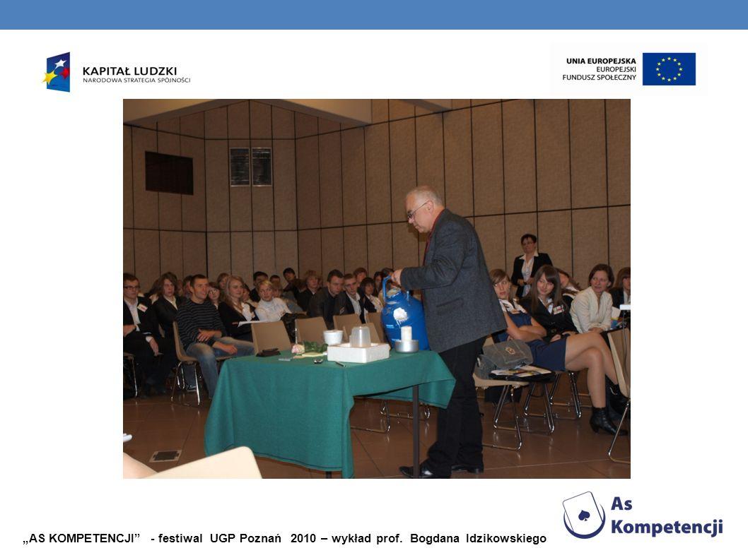 AS KOMPETENCJI - festiwal UGP Poznań 2010 – wykład prof. Bogdana Idzikowskiego