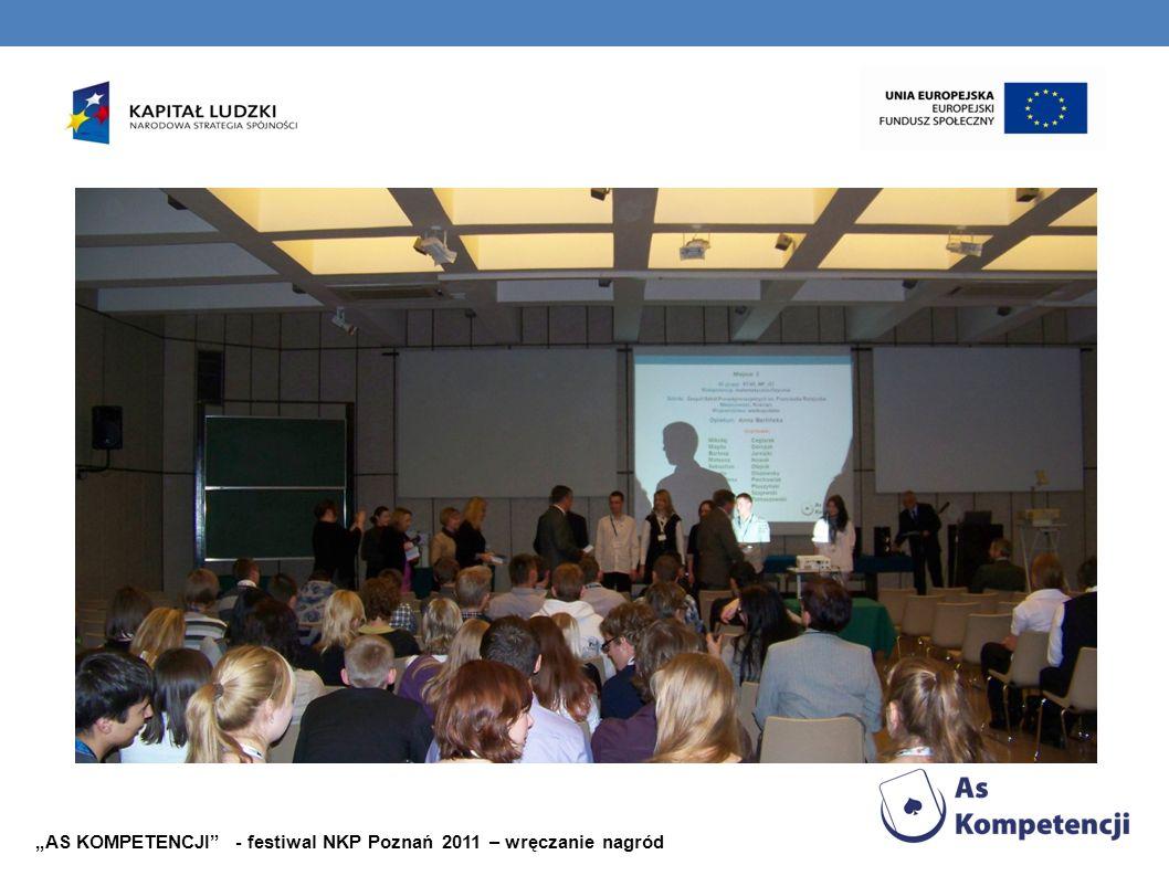 AS KOMPETENCJI - festiwal NKP Poznań 2011 – wręczanie nagród