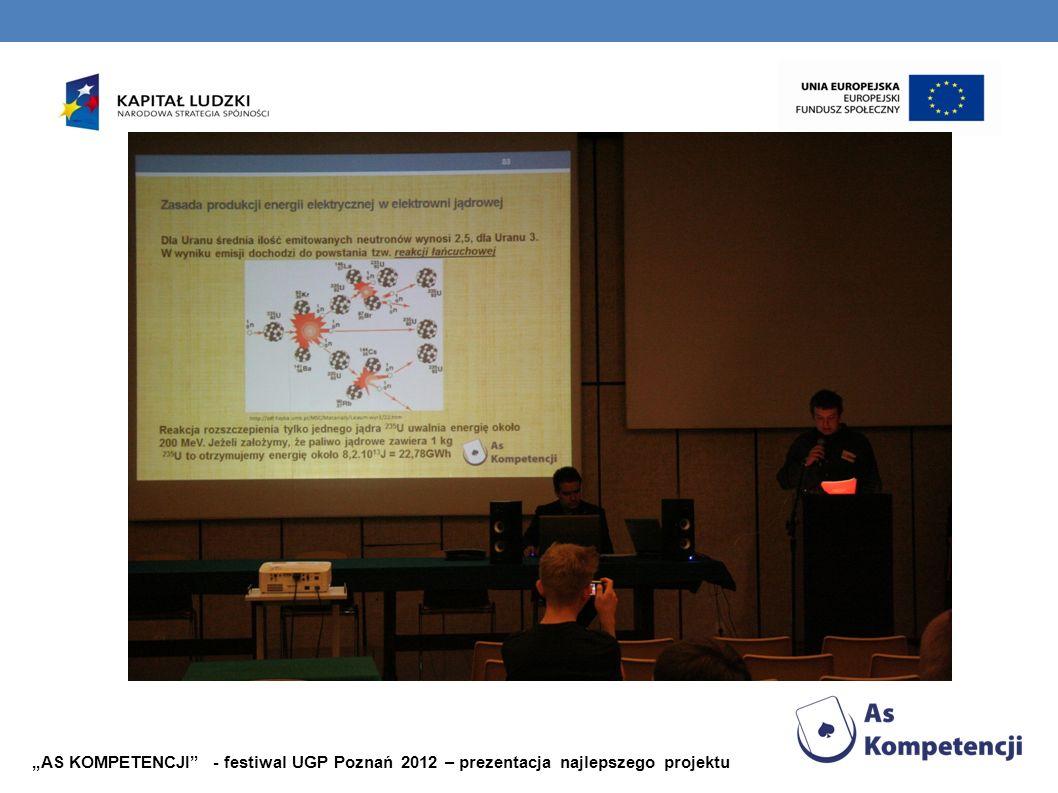 AS KOMPETENCJI - festiwal UGP Poznań 2012 – prezentacja najlepszego projektu