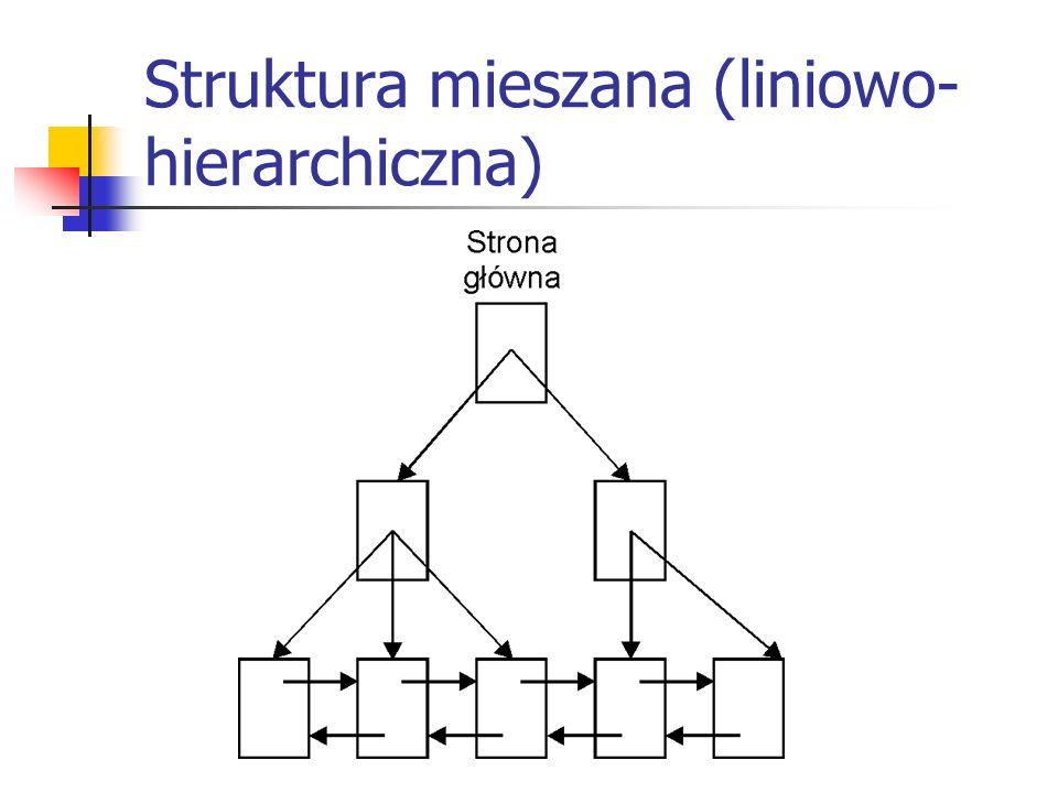 Struktura mieszana (liniowo- hierarchiczna)