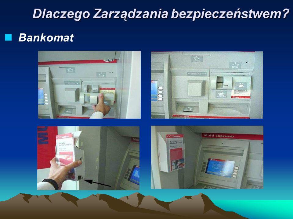 Bankomat Dlaczego Zarządzania bezpieczeństwem?