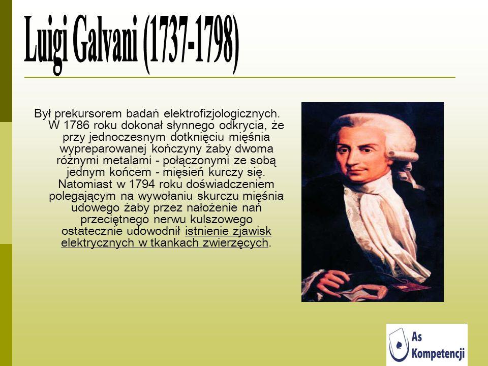 Był prekursorem badań elektrofizjologicznych. W 1786 roku dokonał słynnego odkrycia, że przy jednoczesnym dotknięciu mięśnia wypreparowanej kończyny ż