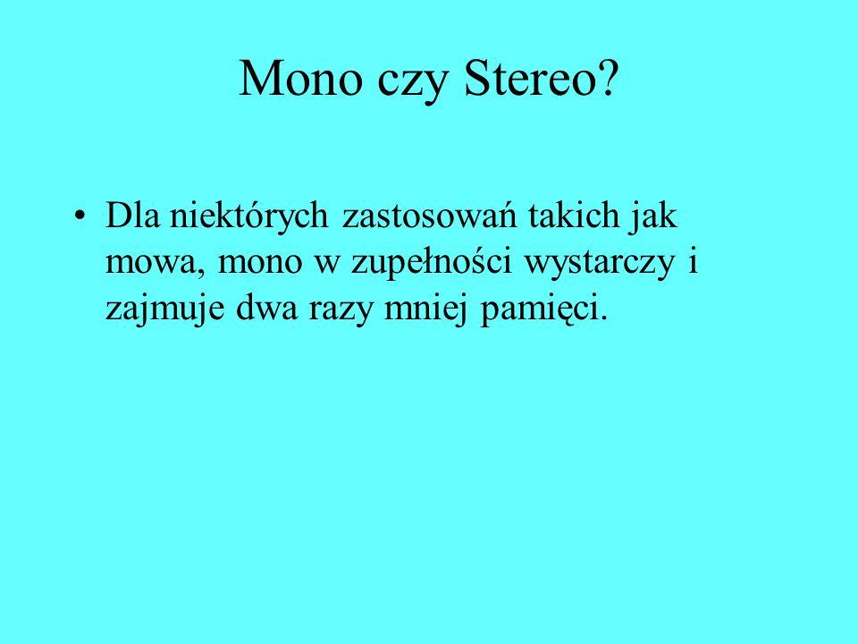 Mono czy Stereo.