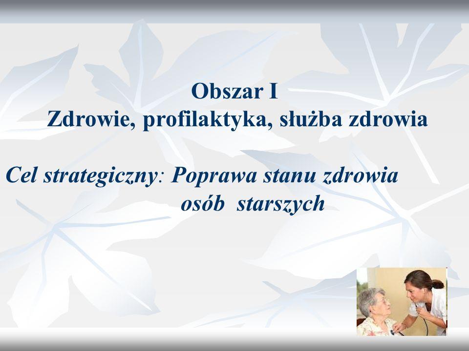 7 Cel szczegółowy 1: Ułatwienie osobom starszym dostępu do opieki medycznej W województwie warmińsko-mazurskim funkcjonują 2 poradnie geriatryczne: w Olsztynie i w Nidzicy.
