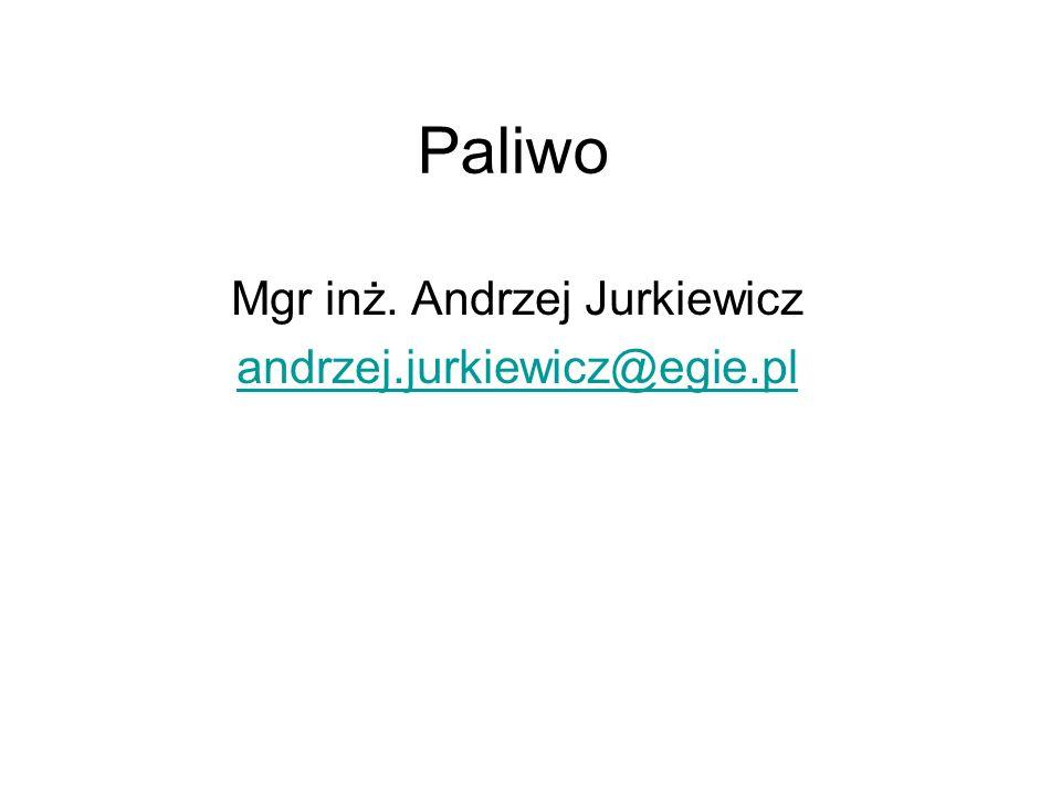 Paliwo Mgr inż. Andrzej Jurkiewicz andrzej.jurkiewicz@egie.pl