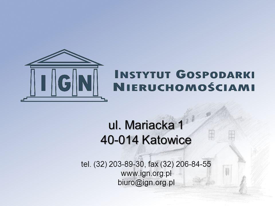 ul.Mariacka 1 40-014 Katowice tel.