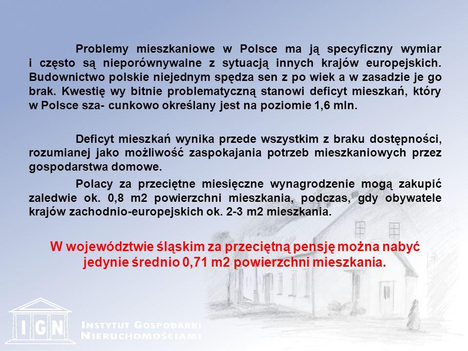 Problemy mieszkaniowe w Polsce ma ją specyficzny wymiar i często są nieporównywalne z sytuacją innych krajów europejskich.
