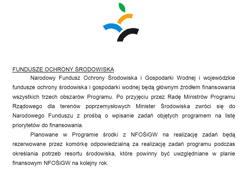FUNDUSZE OCHRONY ŚRODOWISKA Narodowy Fundusz Ochrony Środowiska i Gospodarki Wodnej i wojewódzkie fundusze ochrony środowiska i gospodarki wodnej będą