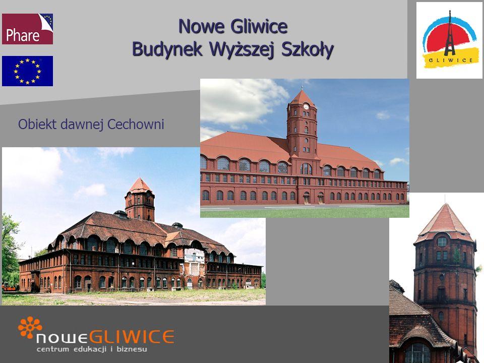 Nowe Gliwice Budynek Wyższej Szkoły Obiekt dawnej Cechowni
