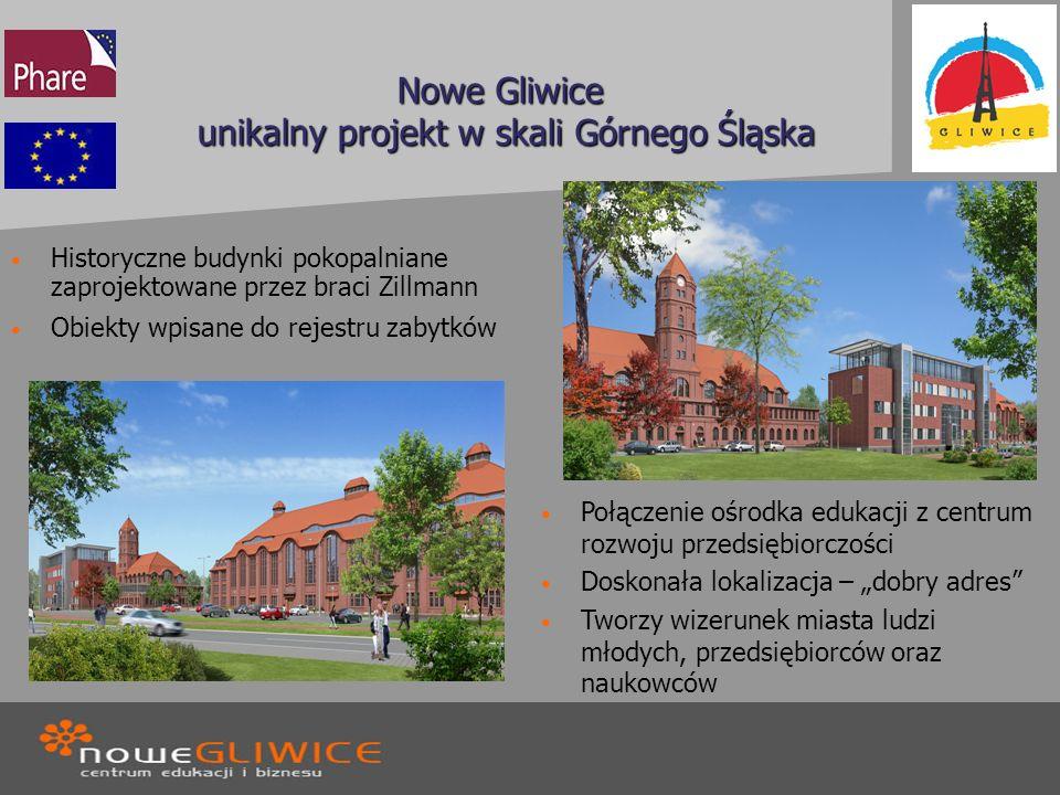 Nowe Gliwice unikalny projekt w skali Górnego Śląska Historyczne budynki pokopalniane zaprojektowane przez braci Zillmann Obiekty wpisane do rejestru