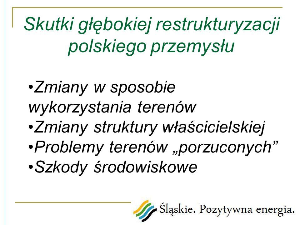 Polish Information and Foreign Investment Agency Zmiany w sposobie wykorzystania terenów Zmiany struktury właścicielskiej Problemy terenów porzuconych