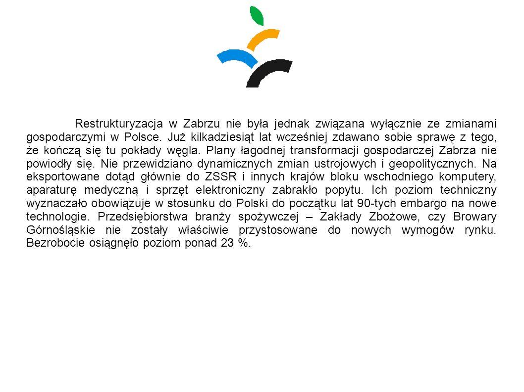 Restrukturyzacja w Zabrzu nie była jednak związana wyłącznie ze zmianami gospodarczymi w Polsce. Już kilkadziesiąt lat wcześniej zdawano sobie sprawę